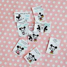Oh boy! These printable valentines featuring Mickey & Minnie are an extra sweet way to say hello on Valentine's Day.