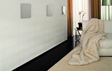 White Leather Doors with Chrome Quad Handles