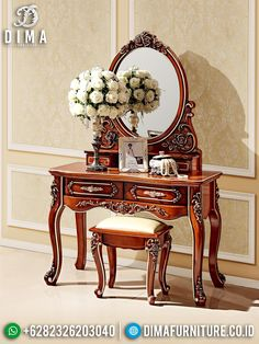 Solid Wood Furniture, French Furniture, Contemporary Furniture, Garden Furniture, Home Furniture, Furniture Design, Mirrored Nightstand, Bedside Cabinet, Mirrored Table