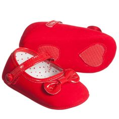 2a42f8f447d Baby Girls Red Pre-Walker Shoes