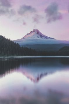 "ikwt: "" Trillium Lake by Shaun Peterson """