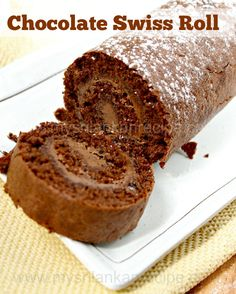 Chocolate Swiss Roll Cake - My SriLankan Recipes