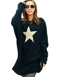 Superbaby Women Round Neck Middle-Long Five-Pointed Star Print Knitted Tops Pullover Superbaby http://www.amazon.com/dp/B00M7LFPOQ/ref=cm_sw_r_pi_dp_mfBzub1CREQ4E