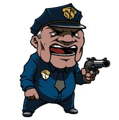 fitting a more chibi style cop. mall cops aren't usually in best physical condition..?