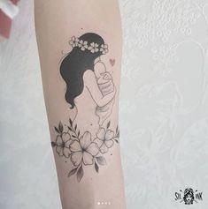 Motherhood Tattoos, Mommy Tattoos, Mother Tattoos, Mother Daughter Tattoos, Baby Tattoos, Family Tattoos, Tattoos For Daughters, Flower Tattoos, Mom Baby Tattoo