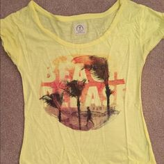 "American Eagle shirt ""Beach Please"" American Eagle loose fitted shirt. Size small American Eagle Outfitters Tops Tees - Short Sleeve"