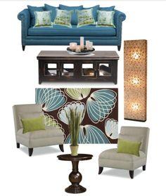 Indigo Citron Living Room