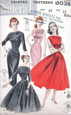 f681646931537781f64f01ab9559ef79--vintage-dress-patterns-vintage-s-dresses.jpg 570×921 pixels