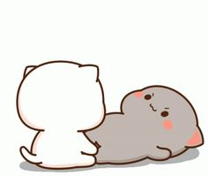 Cute Anime Cat, Cute Bunny Cartoon, Cute Kawaii Animals, Cute Cartoon Pictures, Cute Love Pictures, Cute Love Gif, Cute Love Cartoons, Cute Cat Gif, Cute Anime Pics