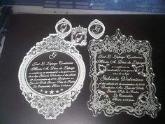 #invitacion #boda #decoracion #acrilico #lasercutting by la_proveeduria_del_uniforme
