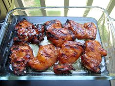 Hawaiian Chicken - I baked instead of grilled and didn't use the butter. Delicious with pineapple rice!