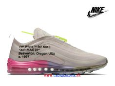 pretty nice 2654e 75faf 2019 Off White x Nike Air Max 97 AJ4585-600 Sneakers Pas Cher Homme Femme