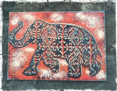 Image result for stampendous elephant march stamp and stencil