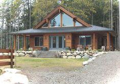 this wonderful post and beam cedar home design showcases