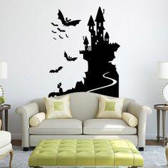 Bat Castle Decorative Removable Decals for Walls