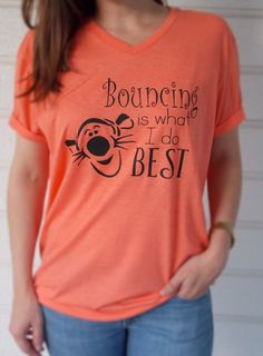 Disney Unisex Tigger Bouncing Shirt for Adults & by MagicInMyVeins