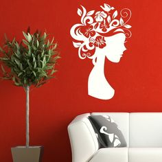 Hair Salon Wall Art | Hair Salon & Beauty Big Removable Wall Stickers / Wall Decals / Large ...