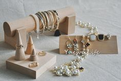 Wooden Jewerly Organizer, Ring Cone Storage, Bracelet Holder, Earring Display, Christmas Gifts Home Decor