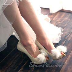 amazing White Rhinestone Stiletto  Heels Wedding Shoes