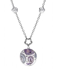Loving this Silver & Purple Paisley Pendant Necklace on #zulily! #zulilyfinds