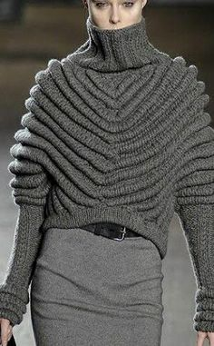 Chunky turtleneck sweater, ribbed gray turtleneck sweater, edgy knitted turtleneck, an all gray outfit
