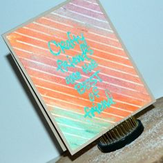 Join Laurel with a video/card showcasing the Faber Castell Gelatos and Heat Embossing! :)