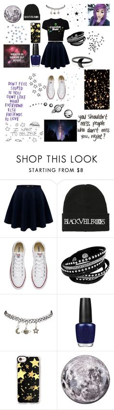 """""""To moon and stars"""" by snow-queen13 ❤ liked on Polyvore featuring Hot Topic, Converse, Wet Seal, OPI, Casetify and Seletti"""
