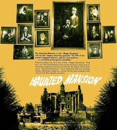 Vintage Ad for the Haunted Mansion at the Magic Kingdom, Walt Disney World, FL before it's completion.