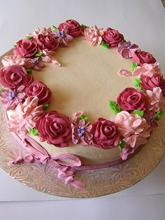 Flower cake.....I want this for my Birthday:)