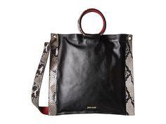 JUST CAVALLI Nappa And Python Printed Leather. #justcavalli #bags #shoulder bags #hand bags #leather #crossbody #