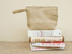 Natural Burlap Cosmetic Bags Makeup Bags by Chokdeesign on Etsy
