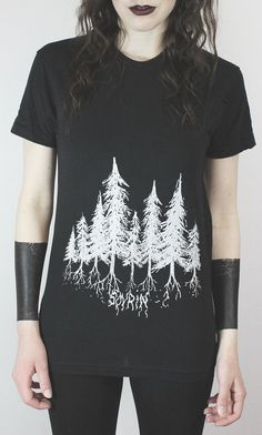 Unisex Dark Pines tee by SOVRIN on Etsy