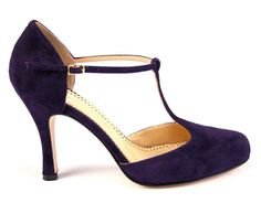 Purple shoes always carry with them a hint of sophisticated glamour. www.bkduncan.com