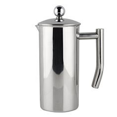 Francois et Mimi Single-Wall French Coffee Press, 27-Ounce, Stainless Steel - Commute Coffee Best Drip Coffee Maker, K Cup Coffee Maker, Coffee Maker Reviews, Espresso Coffee Machine, Coffee Cups, Best French Press Coffee, Antique Coffee Grinder, Kitchen Reviews, Standard Coffee