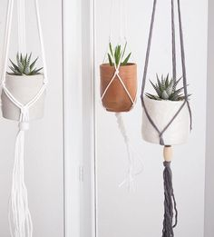 All 3 of our faves sold at the pop up this past weekend. Have glamorous plans to watch a little tv tonight and crank out some more macrame! #itsmorehipthanitsounds #reallyitis #modernmacrame