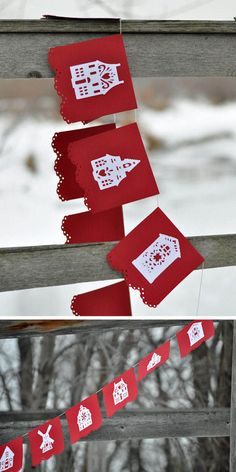 DIY: Use your Cricut (or borrow your friend's) to make this easy Dutch House Garland