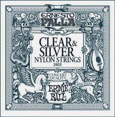Ernie Ball Clear & Silver Nylon Strings   Ernesto Palla   2403