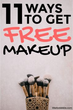 Free Makeup Samples: 11 Fun Ways to Find Them - I Like To Dabble - Finance tips, saving money, budgeting planner Free Beauty Samples, Free Makeup Samples, Free Samples, Make Your Own Makeup, Get Free Makeup, Free Stuff By Mail, Get Free Stuff, Makeup Brands, Makeup Tips