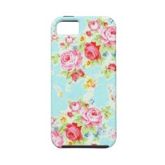 Vintage chic floral roses blue rose flowers shabby Iphone 5 Covers ($48) ❤ liked on Polyvore featuring accessories, tech accessories, flowers and phone