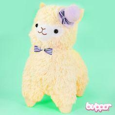 http://www.blippo.com/other/kawaii-plush-toys/alpacasso-arpakasso-plush-with-hat-medium-yellow.html