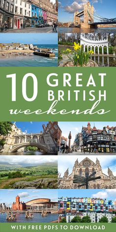 10 of the best tried-and-tested Great British weekend break itinerary ideas – from historic cities to coastal escapes, foodie favourites to unspoilt countryside – including free downloadable PDF guides #weekend #itineraries #UK #Britain