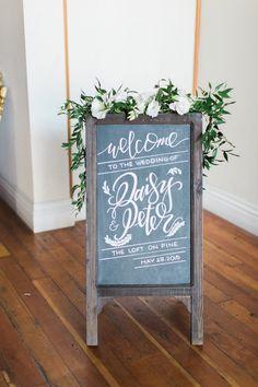 Featured photographer: Koman Photography; wedding ceremony sign idea