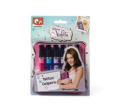 Disney Violetta - Vi13218 - Feutres - Stylos Gel Tatoo - X6 Violetta - Disney http://www.amazon.fr/dp/B00LUM7UIC/ref=cm_sw_r_pi_dp_SpLzub0SPC7E7