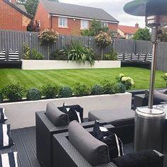 120 minimalist garden design ideas for small garden -page 10 Back Garden Landscaping, Backyard Garden Landscape, Backyard Patio Designs, Garden Yard Ideas, Garden Tips, Back Garden Design, Modern Garden Design, Minimalist Garden, Outdoor Gardens