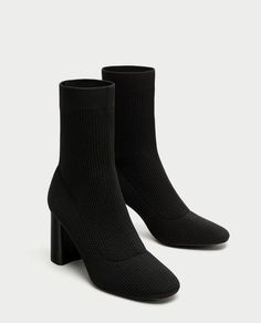 Image 1 of FABRIC HIGH HEEL ANKLE BOOTS from Zara | 66