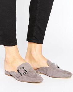 London Rebel Buckle Mule Shoe