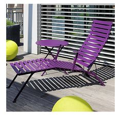 Bistro Folding Chaise Lounge By Fermob