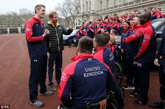Harry joined nearly all of the 110 athletes selected for Paralympics-style sporting specta...