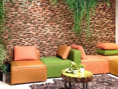 Creative wall-design wood trim interior decoration ideas colorful