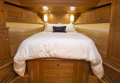 Forward guest cabin of the new 2014 Sabre 54SE